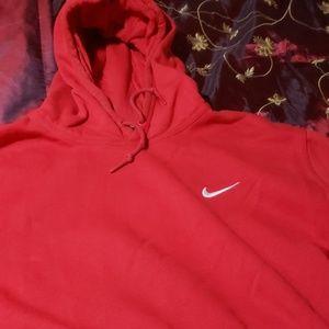 Nike hoodie. Red XXL